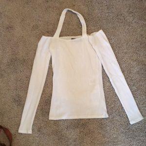 Reformation white ribbed shirt
